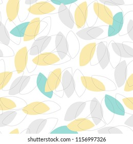 Summery vector petal pattern in seamless repeat.