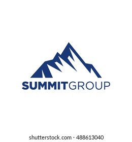 summit illustration and symbol, vector illustration of mountain, mountain logo