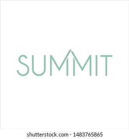 Summit Logotype. Vector Icon and Logo.