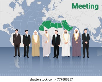 Summit Meeting of Arab and European Business Men and Politics