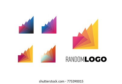 Summit Random Logo. Property estate or tech modern symbol. Vector and JPEG included