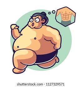Sumo character illustration