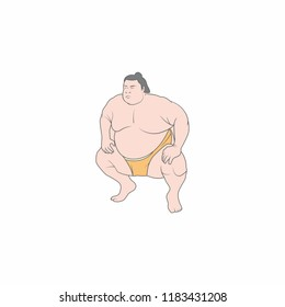 sumo character for Japanese sumo festival, vector illustration