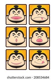 sumo face,emoticons