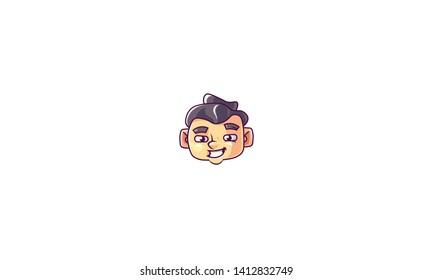 sumo head. logo. sumo face - vector