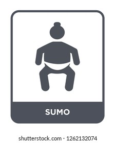 sumo icon vector on white background, sumo trendy filled icons from Sport collection, sumo simple element illustration