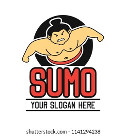 sumo logo with text space for your slogan / tag line, vector illustration