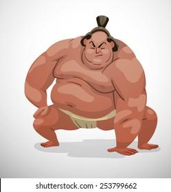 Sumo wrestler, vector