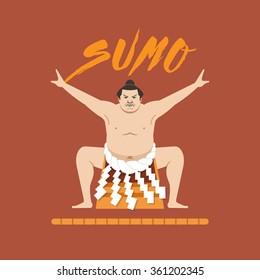 Sumo Wrestler, Vector illustration