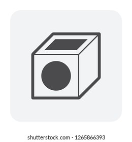 Sump pit icon for drainage system.