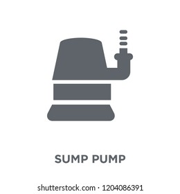 Sump Pump icon. Sump Pump design concept from Furniture and household collection. Simple element vector illustration on white background.