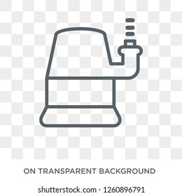 Sump Pump icon. Sump Pump design concept from Furniture and household collection. Simple element vector illustration on transparent background.