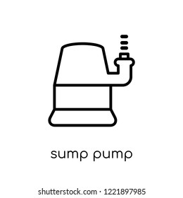 sump pump icon. Trendy modern flat linear vector sump pump icon on white background from thin line Furniture and household collection, outline vector illustration
