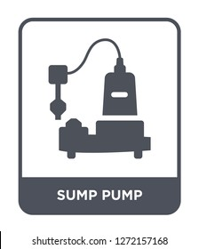 sump pump icon vector on white background, sump pump trendy filled icons from Furniture and household collection, sump pump simple element illustration