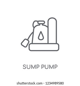 Sump Pump linear icon. Modern outline Sump Pump logo concept on white background from Furniture and Household collection. Suitable for use on web apps, mobile apps and print media.