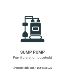 Sump pump vector icon on white background. Flat vector sump pump icon symbol sign from modern furniture and household collection for mobile concept and web apps design.