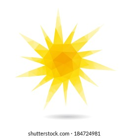 Sun abstract isolated on a white backgrounds, vector illustration