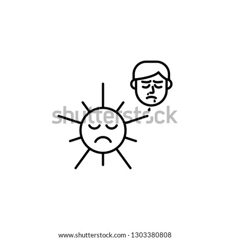 Sun Allergic Face Icon Element Problems Stock Vector (Royalty Free