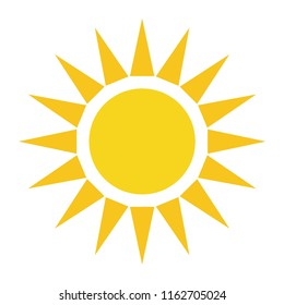 sun art icon vector seasons sunny weather, sunny weather icon illustration, weather forecast logo