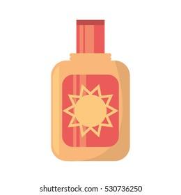 sun blocker cream solar beach vector illustration eps 10