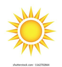 sun brust design vector template, weather forecast icon, sun vector seasons sunny weather, sunny weather icon illustration