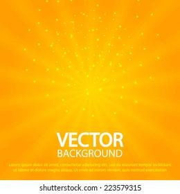 Sun burst abstract background. Vector illustration