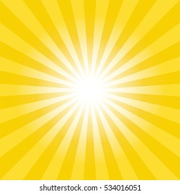 Sun burst background. lights ray in gold theme