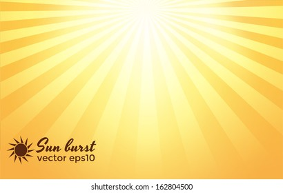 Sun burst background. Vector eps10
