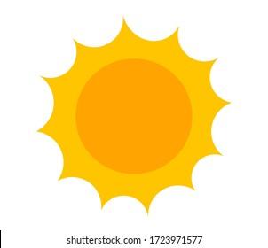 Sun cartoon icon painted. Vector illustration.
