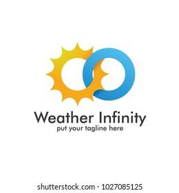 Sun Cloud. Wheater Infinity Logo Icon