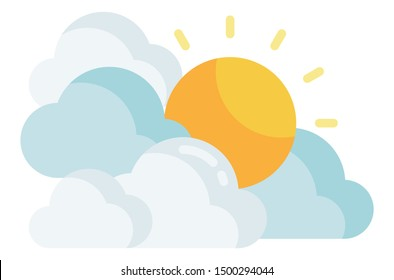 Sun and Cloudy. Design by Inkscape.