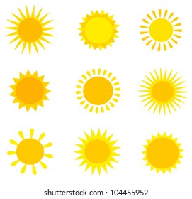 Sun collection. Vector illustration