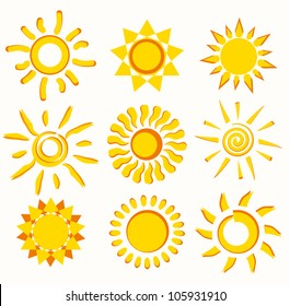 sun collection of vector symbols