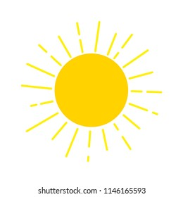 Sun design icon template. Sunlight and sunshine logo. Nature solar concept vector illustration