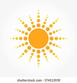 Sun dots icon. Vector illustration
