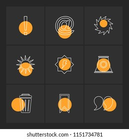 sun  dustbin  industry  shapes  electronic  time  ecology  icon vector design  flat  collection style creative  icons  traingle  square  hexagon  pentagon  battery  electricity