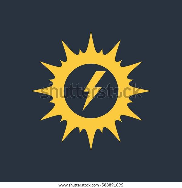 Sun with energy icon