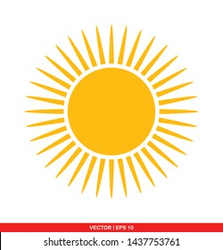Sun flat icon, vector illustration on white background