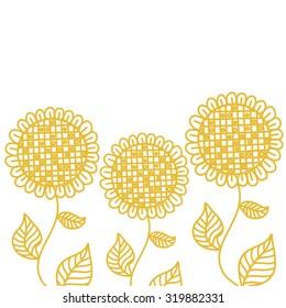 Sun flowers vector illustration