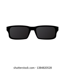 Sun glasses icon on white background