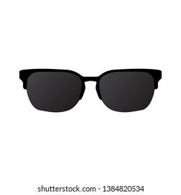 Sun glasses icon on white background
