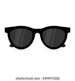Sun glasses isolated summer illustration. Sunglasses beach cool fashion eyewear.