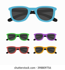 Sun glasses set vector illustration.