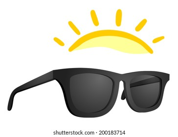 Sun glasses vector design