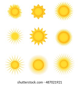 sun icon app ui web jpg drawing vector art eps image logo sign flat object