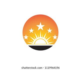 Sun icon business logo template