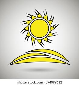 sun icon design