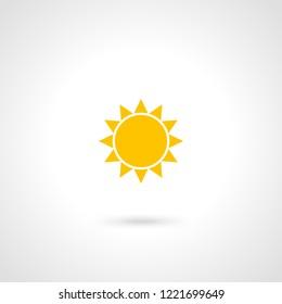 sun icon emblem yellow