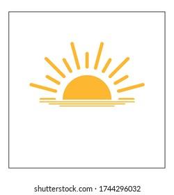 sun icon , flat vector eps10