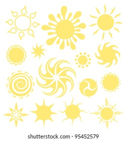 Sun icon logotype vector set